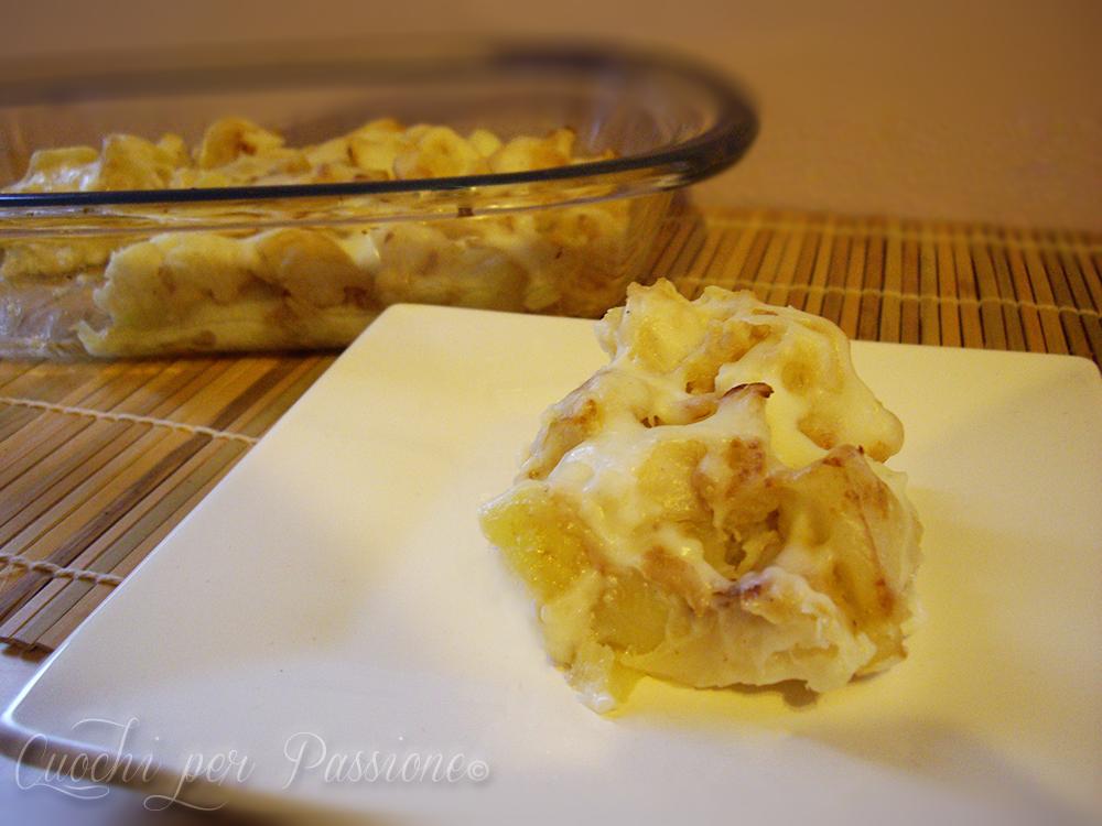 cavolfiore e patate gratinati con besciamella