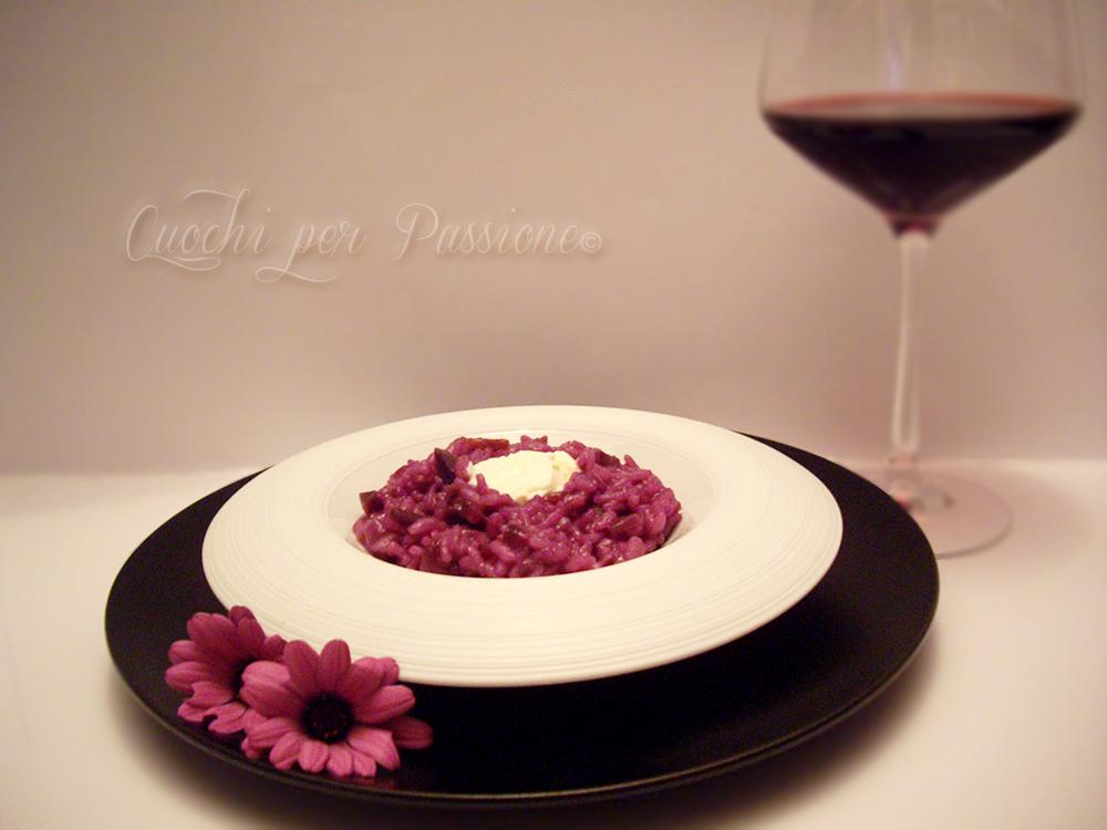 risotto con carote viola e robiola